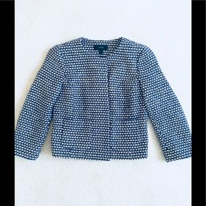 J. Crew hip length tweed blazer/jacket